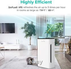 H13 True Hepa Grand Purificateur D'air Pièce 3 Filtre Étape Supprimer Les Allergies Aux Odeurs Fumée
