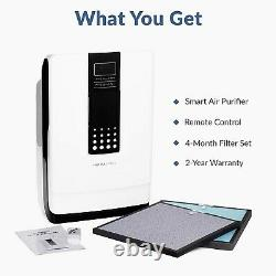 Hathaspace Smart True Hepa Air Purificateur, 5-en-1 Nettoyeur D'air Grande Pièce & Deod