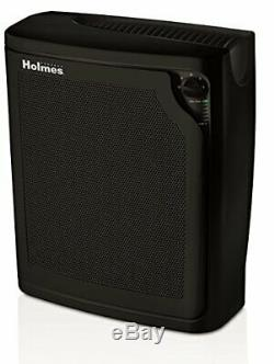 Holmes Grande Chambre 4 Vitesses Hepa Purificateur D'air Avec Fonctionnement Silencieux, Noir