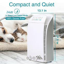 Home Office Purificateur D'air Hepa Grand Air Cleaner Chambre Pet Allergies Poussière