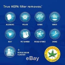 Homedics Totalclean Petplus Hepa Purificateur D'air Filtre À Poussière Les Allergies Aux Animaux Smells