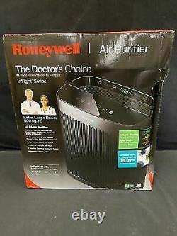 Honeywell Insighttm Hpa5300b 500 Sq Ft Hepa Air Purificateur Noir Usé Boîte Ouverte