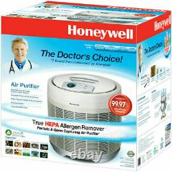 Honeywell True Hepa Air Purificateur 50250-s Enlever Allergènes Poussière Fumée Nouveau Blanc