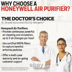 Honeywell True Hepa Air Purifier Allergen Remover Chambre À Air Propre Accueil Nouveau