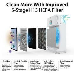 Hp3-a True Hepa Air Purificateur Grand Nettoyeur D'air Pièce 5 Étapes Pré-filtre Lavable