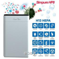 Hp8 Vrai Purificateur D'air Hepa Pour Extra-grande Pièce Avec Nettoyeur Hepa De Qualité Médicale H13