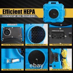 Industriel Commercial Hepa Air Scrubber Négatif Purificateur D'air Pour 500-2000 Sq. C'est-à-dire Qu'il N'y A Pas De