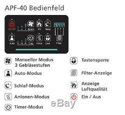 Kaleas Apf-40 Purificateur D'air Luftreiniger Ionisierer Mit Aktivkohle- + Filtre Hepa