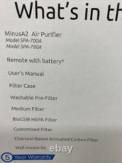 Lapin Air Minusa2 Purificateur D'air Ultra Silencieux Filtration Hepa
