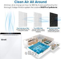 Levoit Wifi Intelligent Purificateur D'air Pour La Maison Grande Chambre Avec Filtre Hepa, Air Pour