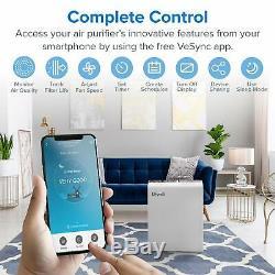 Levoit Wifi Intelligent Purificateur D'air Pour La Maison Grande Chambre Avec Filtre Hepa Vrai, Air Cle