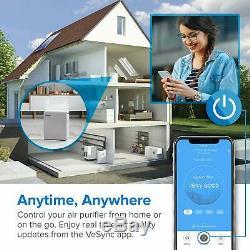 Levoit Wifi Intelligent Purificateur D'air Pour La Maison Grande Chambre Avec True Hepa Filtre