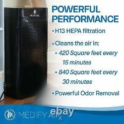 Medify Air Ma-40-w1 Medical Grade H13 Hepa Filter Tower Room Air Purificateur D'air, Blanc