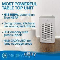 Medify Ma-25 Medical Grade H13 True Hepa 500 Sq. Ft. Réformé Blanc