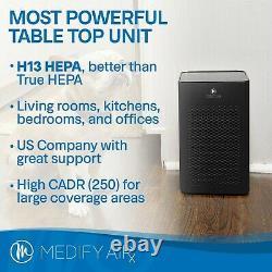Medify Ma-25 Medical Grade H13 True Hepa 500 Sq. Ft. Réformé Noir