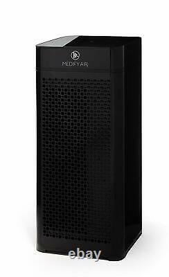 Medify Ma-40 Filtration De Qualité Médicale H13 Hepa Purificateur D'air Refurb- Noir