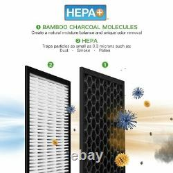 Modèle De Purificateur D'air Hepa+ Hunter Ht1701 Avec Technologie Viro-silver Champagne/blanc