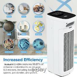 Ms Air Purificateur Ultra Quiet Home Office Du Filtre À Air Hepa Purifier 110 Cfm