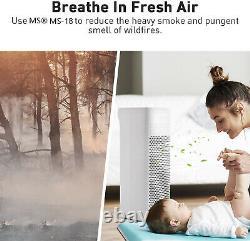 Ms18 Grand Purificateur D'air Pièce Vrai Nettoyant Filtre Hepa Pour Allergie Fumée Poussière Pet