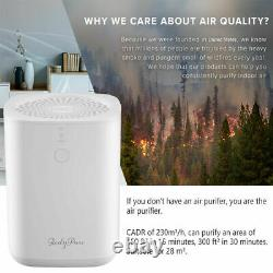 Nettoyeur D'air Purificateur D'air Pour Les Allergies À Domicile, Poils D'animaux De Compagnie, Fumeur, Véritable Filtre Hepa