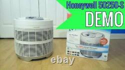 Nouveau Purificateur D'air Honeywell Hepa 50250-s (blanc) Retirer La Fumée Allergènes Poussière