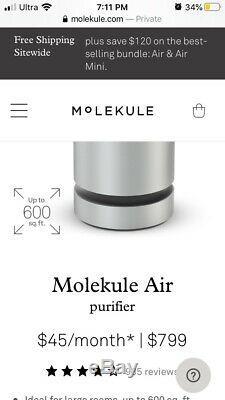 Nouveau Purificateur D'air Molekule Filtre Hepa Lumière Uv