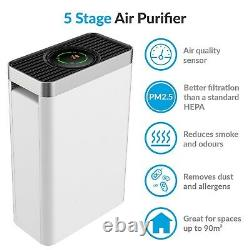 Pm2,5 5 Étape Purificateur D'air Hepa Avec Qualité De L'air Du Capteur Et Le Temps Eap260hc-pm2,5