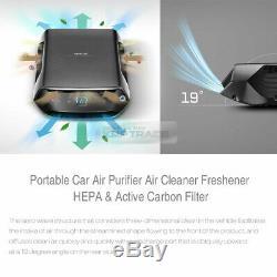 Portable Voiture Purificateur D'air Filtre À Air Désodorisant Hepa Et Filtre À Charbon Actif