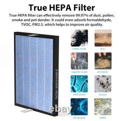 Pour Membrane Solutions Msa3 Purificateur D'air H13 True Hepa Filtre De Remplacement 6 Pack