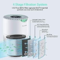 Premium Luftreiniger Ionisator Hepa Filtre Raumluftreiniger Air Purifier Timer