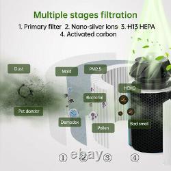 Proscénique Purificateur D'air A9 Avec Véritable Filtre Hepa Allergies Air Clean Cadr 460m3/h