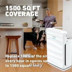 Purificateur D'air 2pcs Avec Filtre Hepa H13 5étape Système De Filtration Nettoyeur De Sol Silencieux