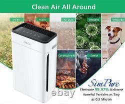 Purificateur D'air 800sqft Grande Chambre Classe Médicale H13true Hepa Filtre Cleaner 4stage
