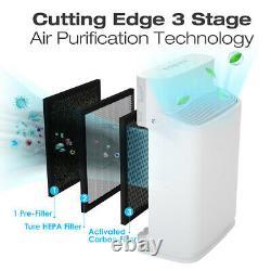 Purificateur D'air À 5 Étapes Pour Grande Pièce, H13 True Hepa Filter Odeurs Home Air Cleaner