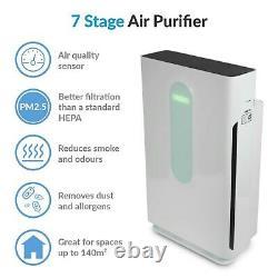 Purificateur D'air Antiviraux Electriq À 7 Étapes Avec Capteur De Qualité De L'air Et Véritable Hepa