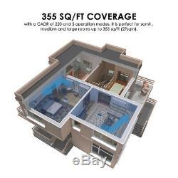 Purificateur D'air Grande Chambre Jusqu'à 355 Pi², True Hepa Filtre + Mini Filtre À Air Pour Voiture