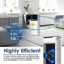 Purificateur D'air Grande Chambre Jusqu'à 738 Pi², True H13 Filtre Hepa Filtre À Air Pour La Maison