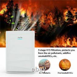 Purificateur D'air H13 True Hepa Filtration Allergen Reduction Home Large Room Cleaner