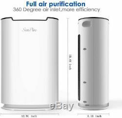 Purificateur D'air Hepa Filtre Purificateur D'air Odeur Allergies Eliminator Grand Bureau