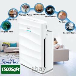 Purificateur D'air Intelligent Pour Grande Chambre Jusqu'à 1500ft2, Disponible En Californie, 5 Étages