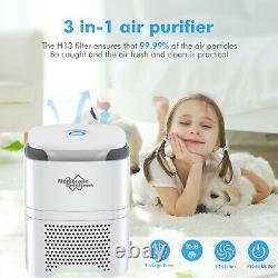 Purificateur D'air Intérieur Nettoyeur D'air 360° Purification Hepa Filtres Pour Grande Pièce Us