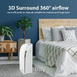 Purificateur D'air Pour 1500sq. Ft Nettoyeur D'air De Grande Chambre Niveau Médical H13 Filtre Hepa