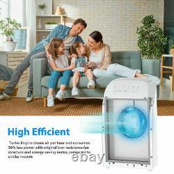 Purificateur D'air Pour Allergies Pet Odor Eliminator Air Cleaner 2pcsture Hepa Filter