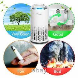 Purificateur D'air Pour La Maison Grande Chambre Avec Capteur Automatique De Qualité D'air, True Hepa
