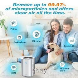 Purificateur D'air True Hepa Filtre Filtre Ioniseur Nettoyant Pour La Maison Allergies Odor