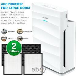 Purificateur D'air W2washable Prefilters Classe Médicale H13true Hepa Grande Chambre1500sqft