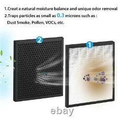Purificateurs D'air 3in1 Avec Nettoyeur De Filtre True Hepa Pour Les Grandes Allergies Fumeur À Domicile