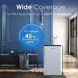 Purificateurs D'air Filtre H13 Hepa Pour La Maison, 3 Purificateurs D'air De Vitesse De Ventilateur Pour La Chambre À Coucher
