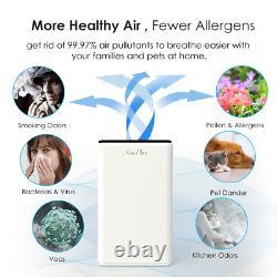 Purificateurs D'air Hepa 4 Étapes Pour Les Grandes Allergies Propres À La Maison Animaux De Compagnie Odeurs De Fumeur De Cheveux