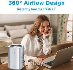 Purificateurs D'air Pour Home-20db Filtre H13 True Hepa Ultra-silent Pour Bureau Dans La Chambre À Coucher